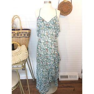 NWT Chelsea & Violet Macaw Bird Tropic Maxi Dress